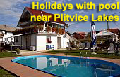 Holidays with pool near Plitvice lakes